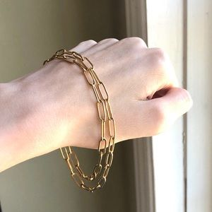 Paperclip Chain 14k Gold Necklace
